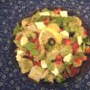 Pirospaprikás burgonya saláta
