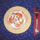 Paradicsom saláta márványsajt öntettel