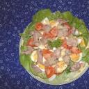 Tőkehalmáj saláta tojással