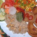 Csicseriborsó párolt zöldséggel
