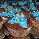 Csokis Muffin, ananásszal díszítve :)