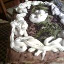 Diós hétköznapi torta.