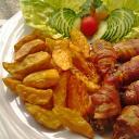 Baconos csirkeszárnyak