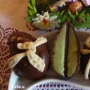 Csokoládétojások hamis marcipántöltelékkel Kata mó